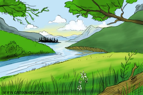 peaceful-brook-cartoon-landscape