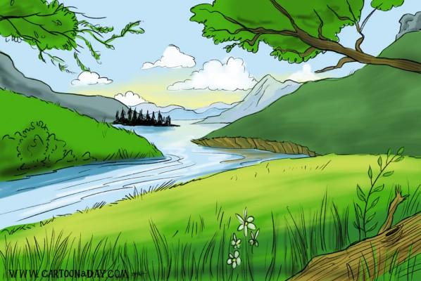 peaceful-brook-cartoon-landscape
