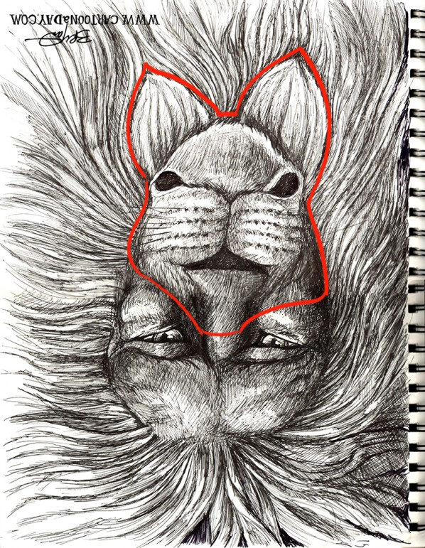 sketchbook-lion-rabbit-upside-down