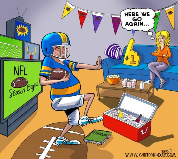 Football season starts cartoon
