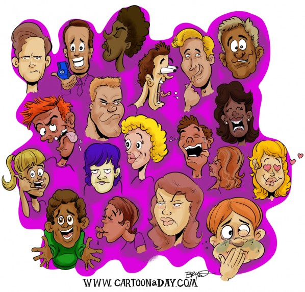 random-caricature-faces