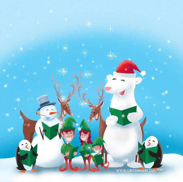 christmas-caroling-animals-cartoon