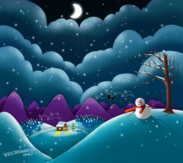 christmas-scene-cute-snowman
