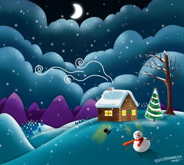 christmas-scene-cute-snowman-alt