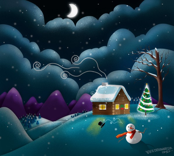 christmas-scene-cute-snowman-alt-dark