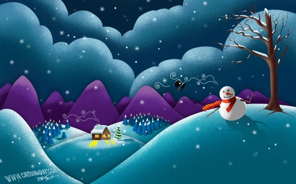christmas-scene-cute-snowman-desktop1