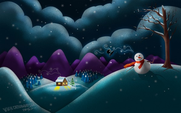 christmas-scene-cute-snowman-desktop2
