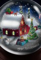 North Pole Snow Globe Illustration