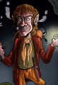 Martin Freeman as Bilbo Baggins Caricature