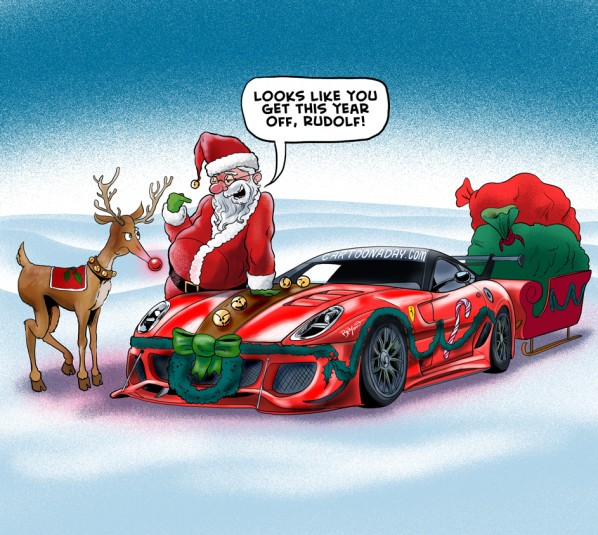 santa-sleigh-ferarri-cartoon