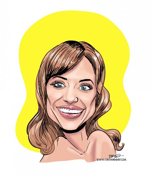 Caricature-angelina-jolie 2