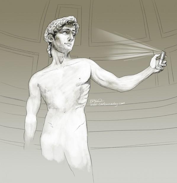 Michelangelos_David_statue-selfie