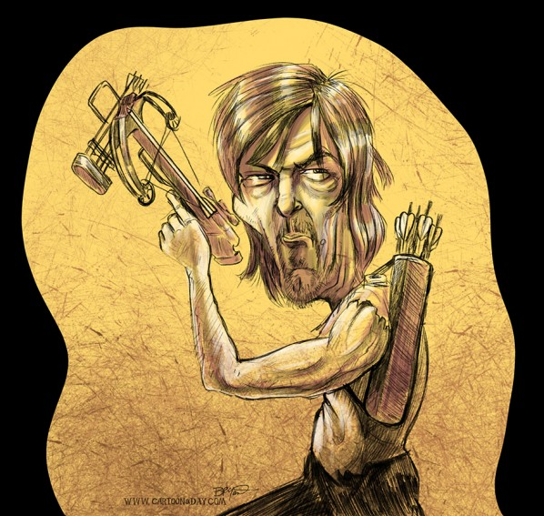 norman-reedus-daryl-caricature