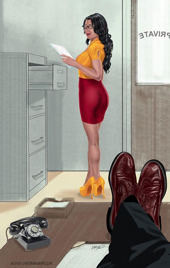 sexy-secretary-modern-pinup