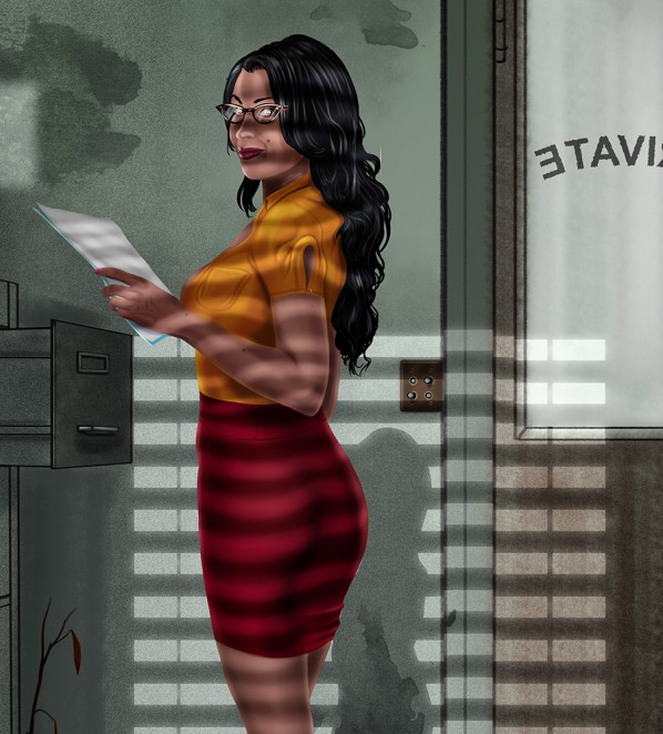 Sexy Secretary Pinup Office