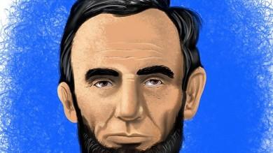 Color Portrait Of President Abraham Lincoln Cartoon