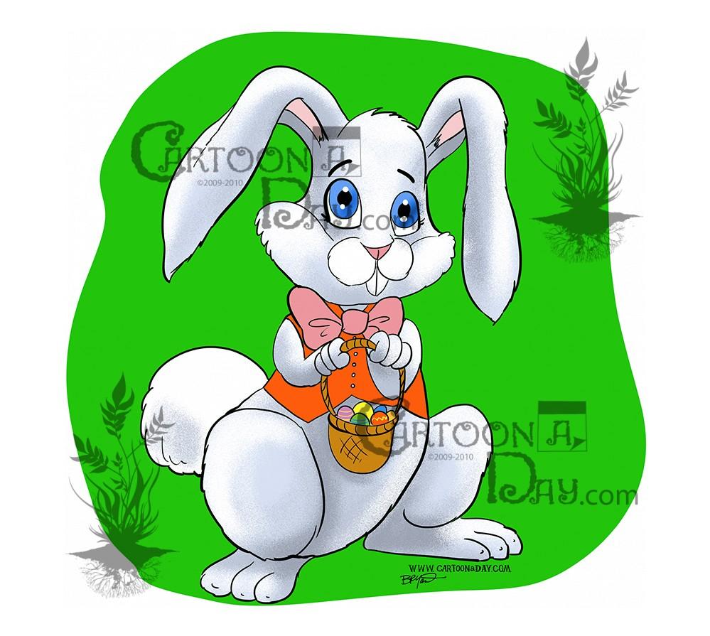 cute easter bunny cartoon cartoon