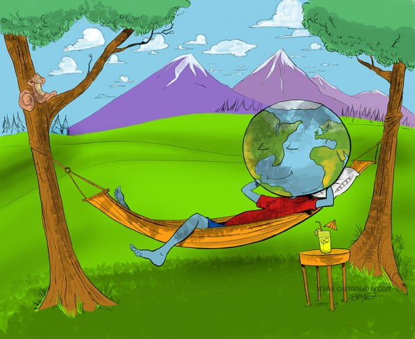 happy earth day cartoon