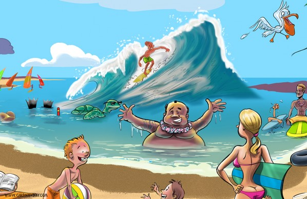 cartoon tropical hawaii beach scene update cartoon rh cartoonaday com cartoon beach scenes images Tropical Beach Scene Cartoon
