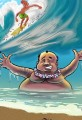 Cartoon Tropical Hawaii Beach Scene Update