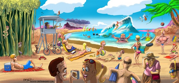 cartoon tropical hawaii beach scene final cartoon rh cartoonaday com cartoon beach scene clip art cartoon beach scenes