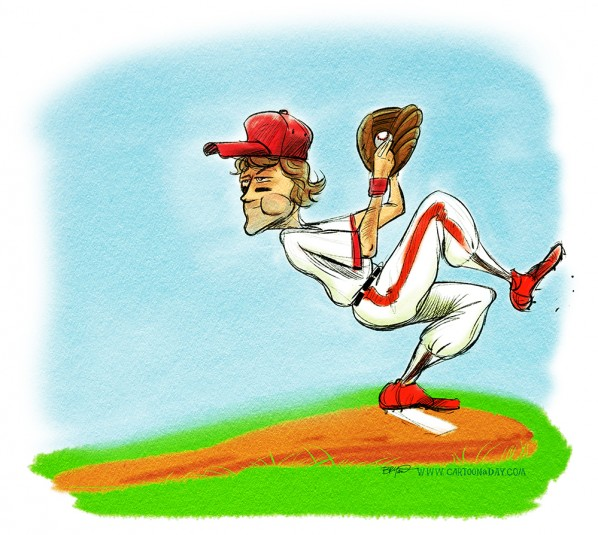 baseball-pitcher-mound-sketch-watercolor