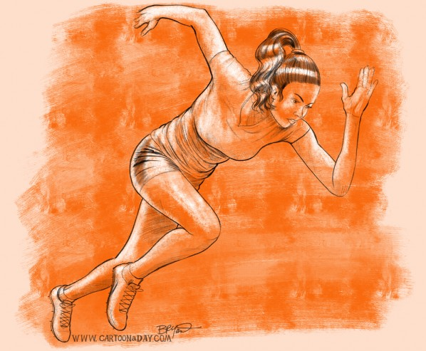 Female-sprinter-sketch