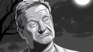 Robin Williams Dies Gravestone Cartoon