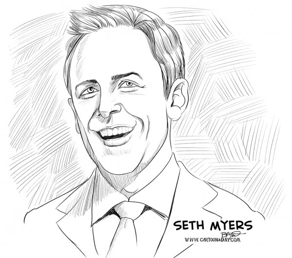 seth-myers-cartoon-caricature