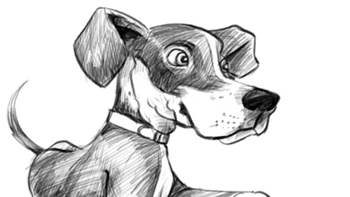 read more puppy dog cartoon sketch