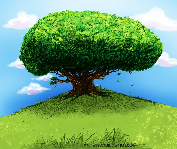 Tree-on-hill-painted-598