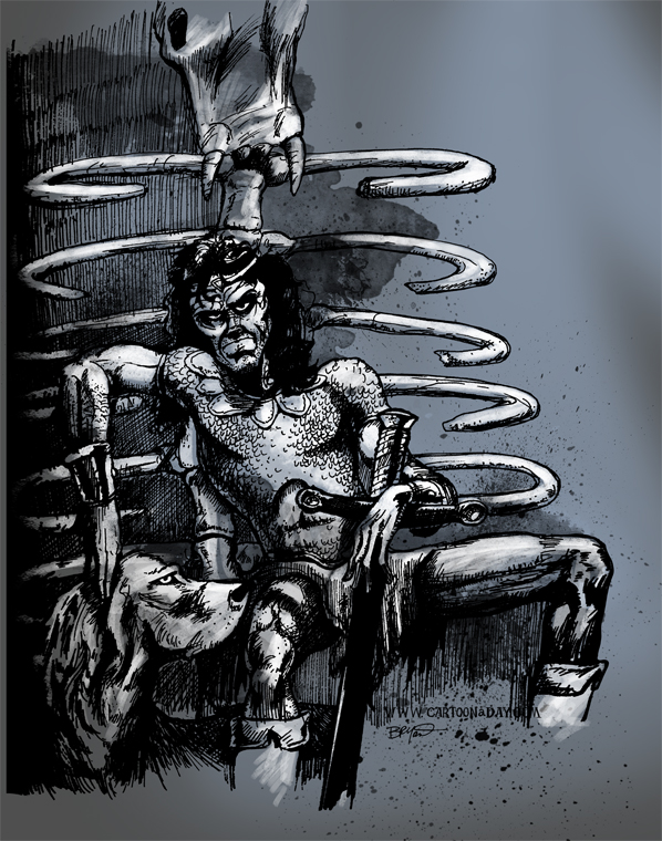 Dragonbone Chair Sketch Cartoon