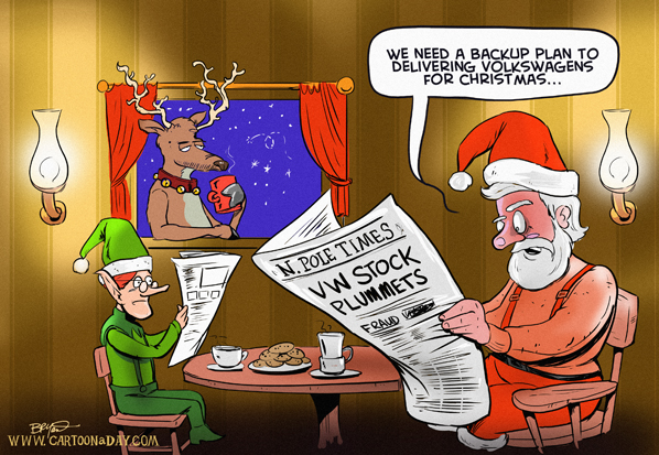 santa-delivers-volkswagen-cartoon-598