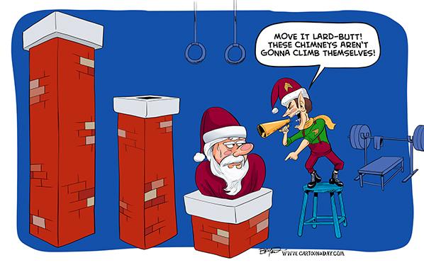 santa-practices-schimney-cartoon-598