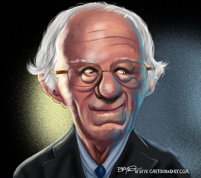 Bernie-Sanders-carticature-cartoon-contrasty