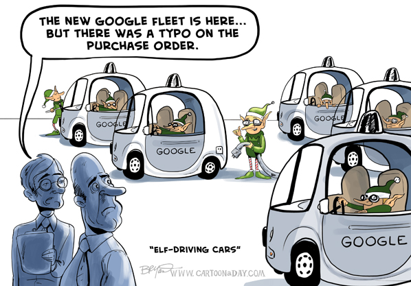 Self Driving Cars Cartoon
