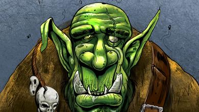 warcraft orc painting cartoon cartoon