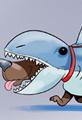 Funny Shark Week Dog Walking