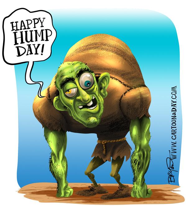 Happy Hump Day Hunchback Cartoon Cartoon