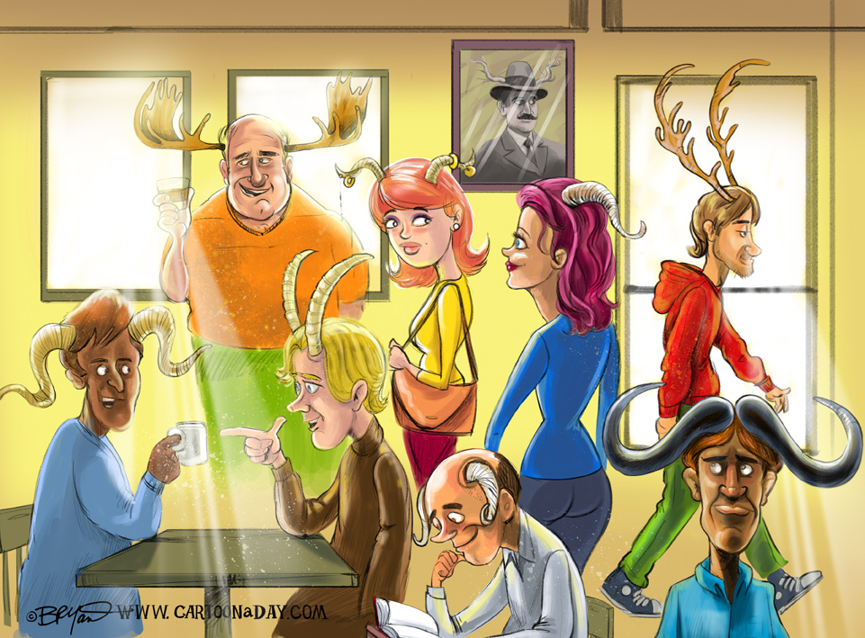 Humans-with-antlers-cartoon-72