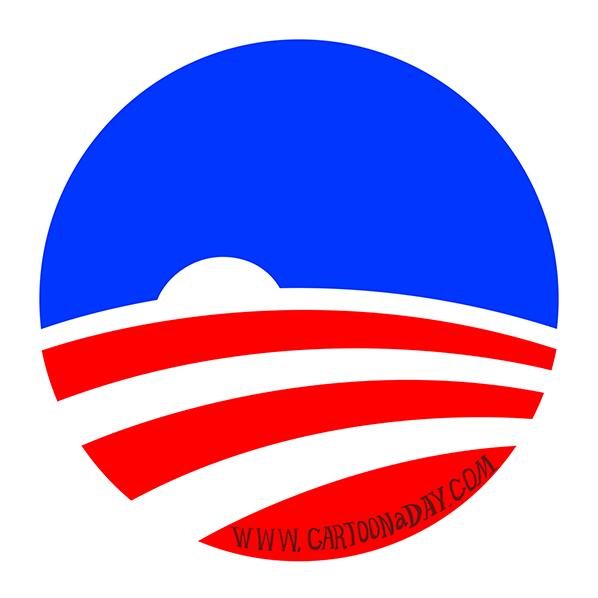 Obama-logo-setting-sun