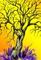 Winter Twiggy Tree Orange
