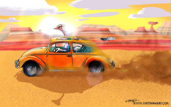 Cartoon-Ostrich-volkswagen-bug-australia-598