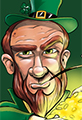 Happy Sty Patrick's Day Leprechaun Cartoon