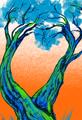 Twiggy Tree Blue Green