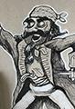 Cartoon Sketch Pirate