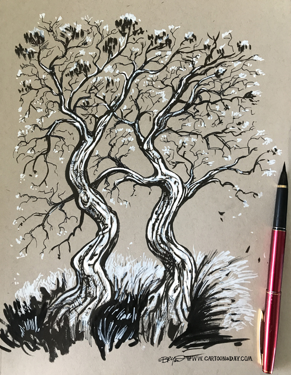 Dual-twiggy-tree-sketch-598