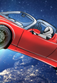 Tesla Roadster Cartoon Starman