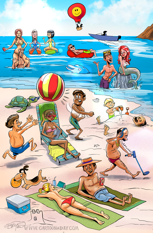 Summer-cartoon-Beach-fun-598