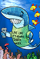 Funny Shark Week Cartoon